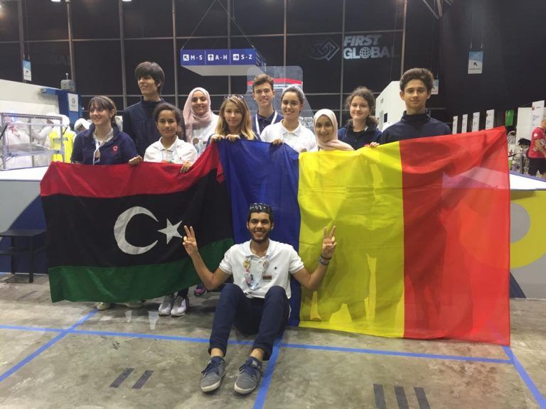 Team Libya with Team Romania